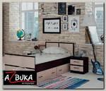 """Кровать 900 с ящиками """"Акура"""" (Венге/Лоредо)"""