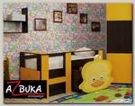 """Кровать с ящ.""""Duck"""" (МДФ)(Венге/Оранжевый/Фотопечать)"""