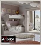 """Кровать 2-х ярусная с лестницей """"Ариэль""""(Лиственница Сибиу с рис.)/TryC-280.11.01"""