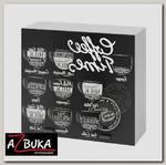 """Шкаф 800 """"Чарли"""" (МДФ фотопечать) (Coffee Time черный)"""